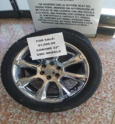 """22"""" Chrome GMC Wheels (2)"""
