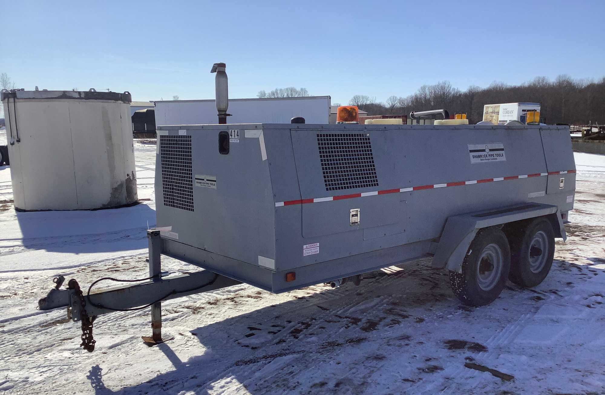 1994 Shamrock Pipe Tools SPT650 Sewer Jetter Trailer
